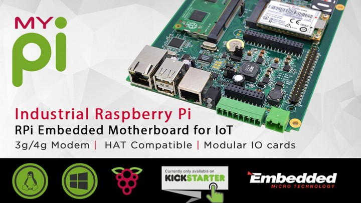 MyPi : Industrial grade Raspberry Pi on Kickstarter