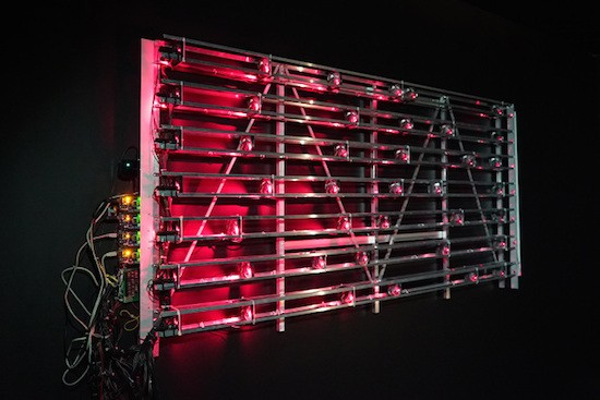 Autonomous machine makes music with 7 lasers and 42 fans