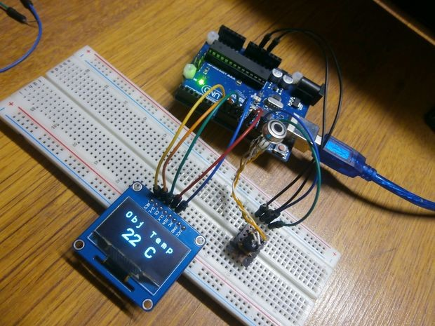 Contactless OLED Thermometer With Arduino and MLX90614