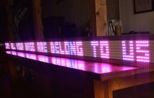 A giant, Arduino-powered scrolling LED sign costs $15/foot