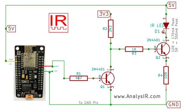 ESP8266 NodeMCU Backdoor uPWM hack for IR signals