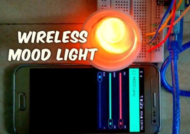 Wireless mood light with Arduino & BLYNK