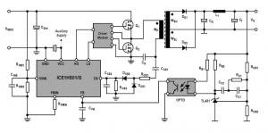 Half Bridge LLC Resonant Converter Design using ICE1HS01G