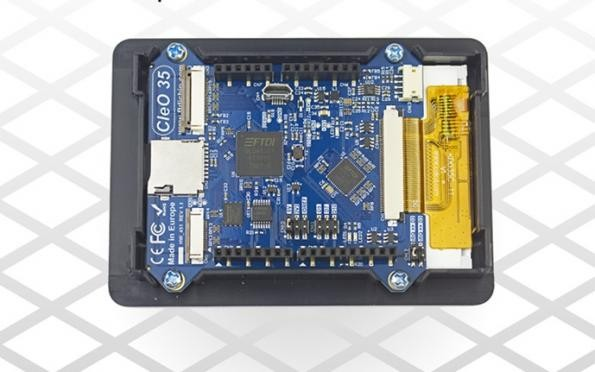 Arduino-compatible touch-enabled display shield from FTDI