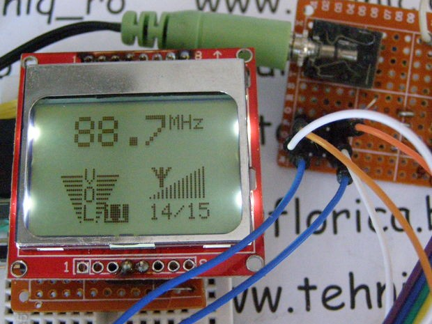 TEA5767 FM Radio With Digital Volume control