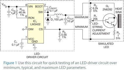Accurately simulate an LED
