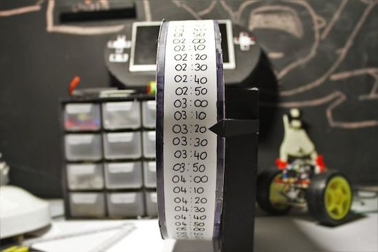 This DIY stepper motor clock is weird yet wonderful