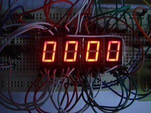 DIY Stopwatch made out of Digital IC 4026 and 4017