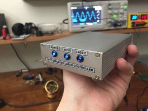 Opto-isolated laser controller build