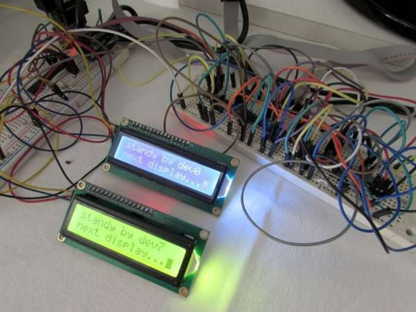 An AVR Atmega library for multiple HD44780 based LCD connected through i2c
