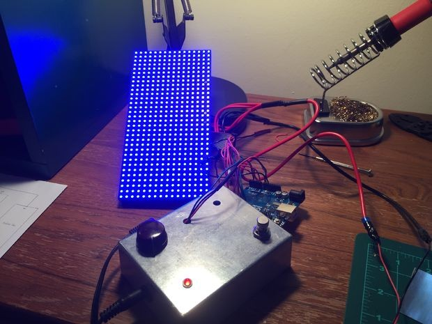 Control an LED display with your electric guitar!