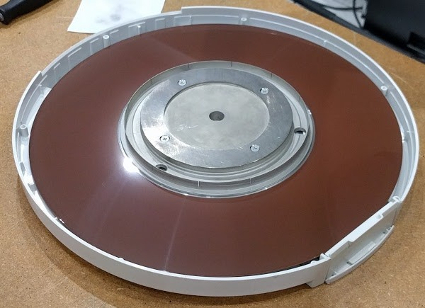 Inside the disk pack used by the Xerox Alto.