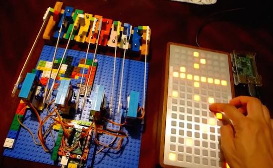 Monome + Raspberry Pi + Arduino + Python Step Sequencer