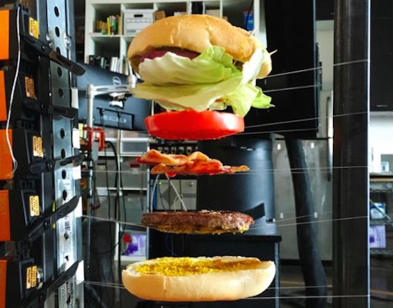 This 'burger drop' machine captures the perfect shot