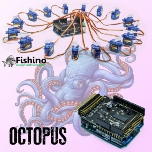 "Octopus, a ""tentacular"" shield for Arduino and Fishino"