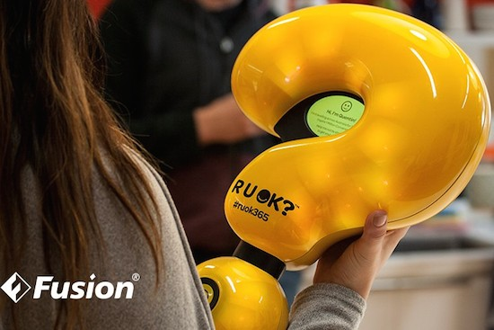 Connected question mark hopes to spark 1 million conversations