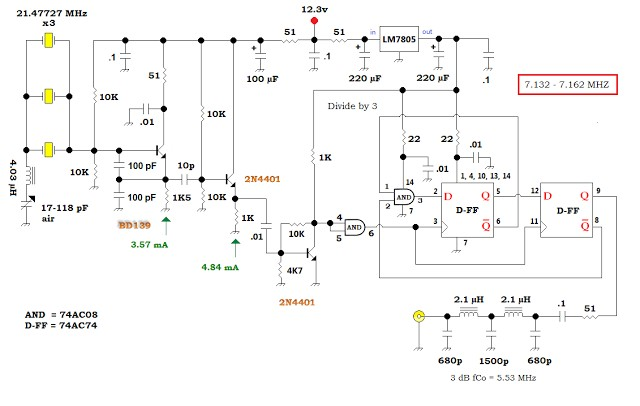 VXO — based PLL Frequency Synthesizer for 7 MHz 32