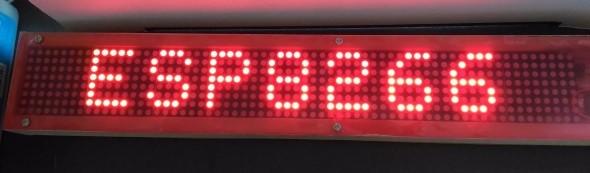 Wifi enabled 8×64 pixel LED matrix display