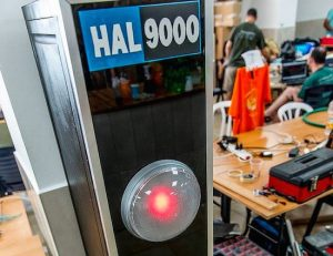 HAL 9000 reimagined as a useless machine