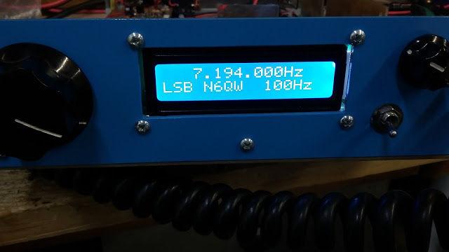 40M Junk Box SSB Xcvr in a Blue Case