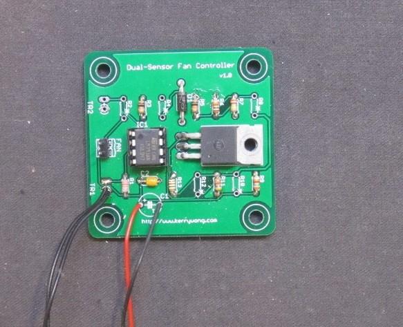 A dual sensor fan controller build