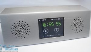 A sheet metal Arduino MP3 alarm clock