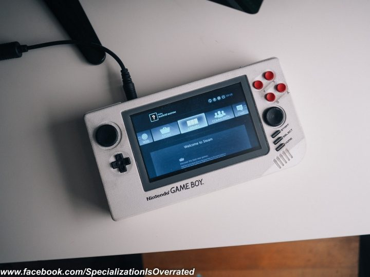 A 3D-printed reimagined Game Boy prototype