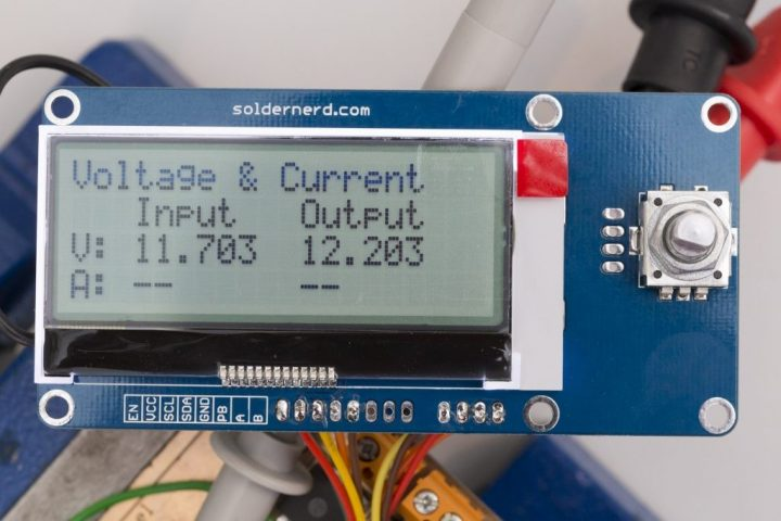 Low Power User Interface for MPPT Solar Charger