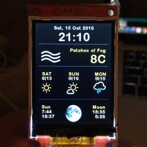 ESP8266 Weather Station Color code published