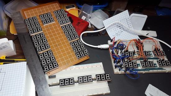 81 7-segment displays combine to form mega Sudoku game
