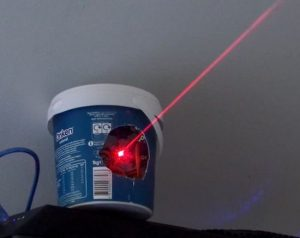 Entertain your cat with a laser-enabled yogurt tub