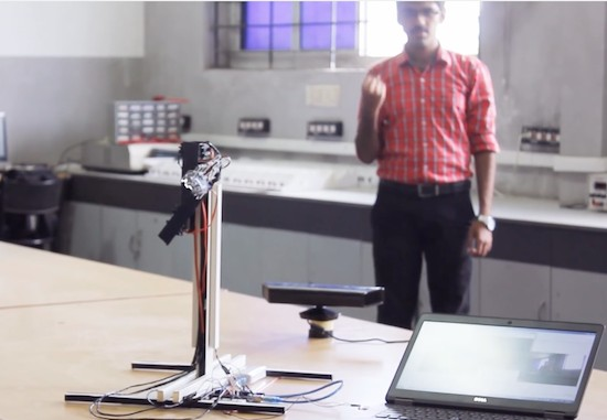 These Makers built a gesture-controlled robotic arm