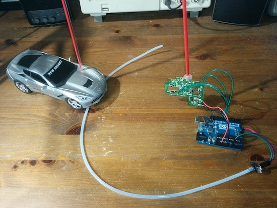 RC vehicles modified for sip-and-puff control