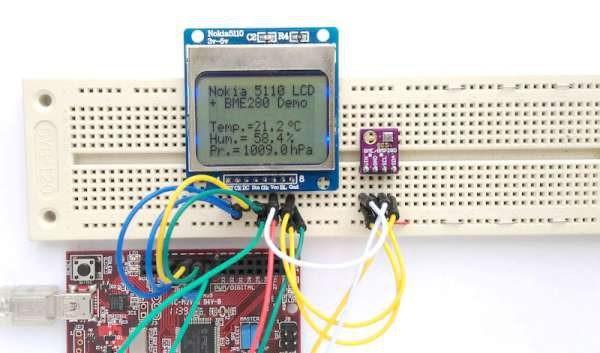 ChipKIT based weather station using BME280 sensor module