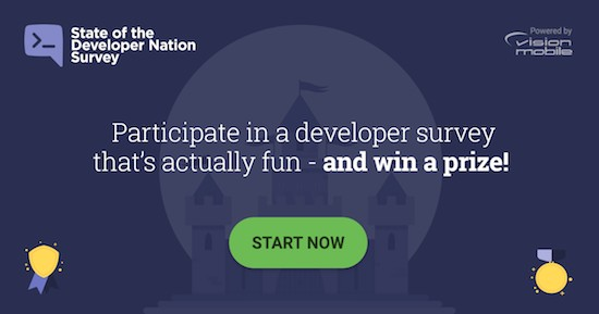 Take a break from coding and take VisionMobile's developer survey