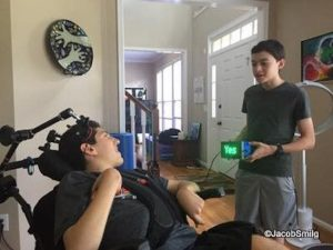 Teen helps friend with a brain injury communicate again