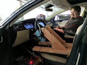 Teslapathic! Hackers build a brain-controlled Tesla