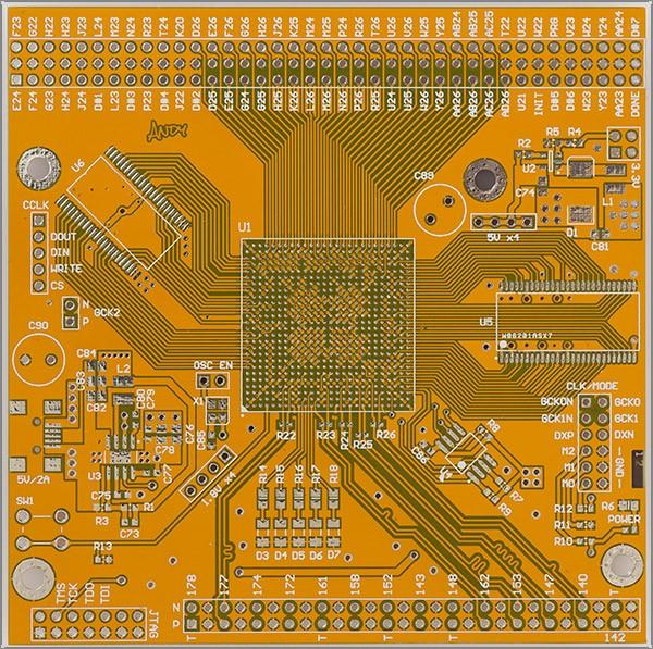 Working with the Xilinx Virtex-E FPGA in a huge BGA package