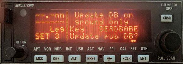 Updating the KLN89B