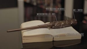 Harry Potter fans create a fully-functioning smart wand