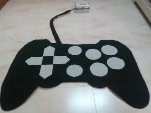 This wireless game controller looks like a rug