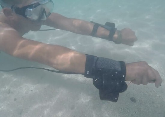 Wrist thrusters let you fly through the water effortlessly