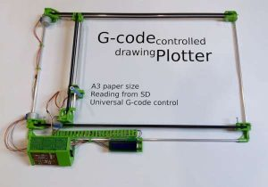 G-code controlled drawing plotter