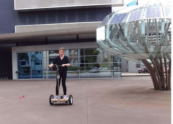A DIY Segway-style vehicle