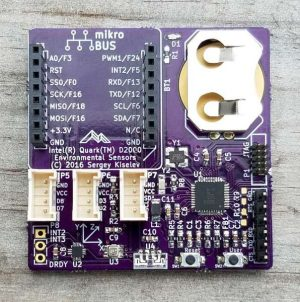 Intel(r) Quark(tm) micrcontroller D2000 based Environmental sensors board