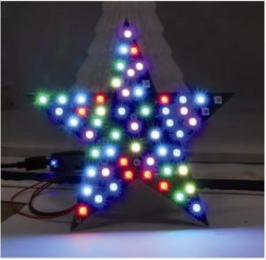 A Christmas star with Neopixel LEDs