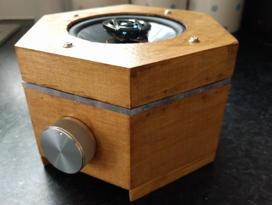 A DIY hexagonal Bluetooth speaker with sound-reactive LEDs 3