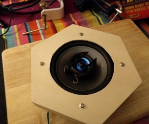 A DIY hexagonal Bluetooth speaker with sound-reactive LEDs