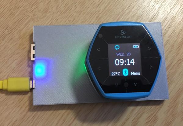DIY IKEA wireless Qi charging for the Hexiwear