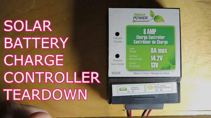 Solar battery charge controller teardown